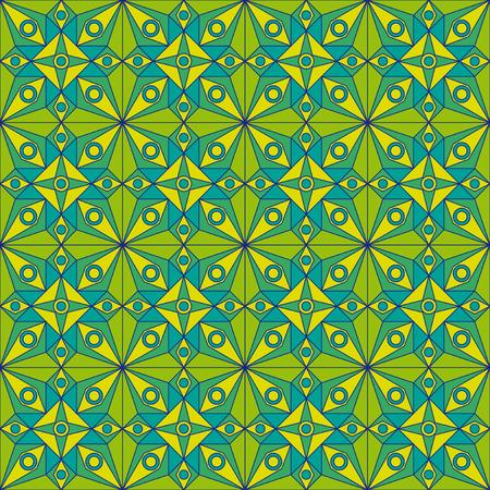 jugendstil: Green Jugendstil Pattern Illustration