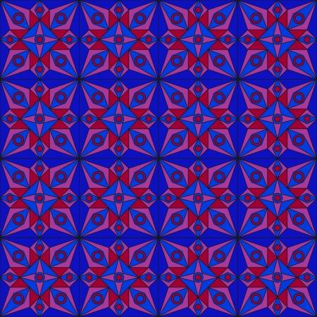 jugendstil: Blue Jugendstil Pattern Illustration