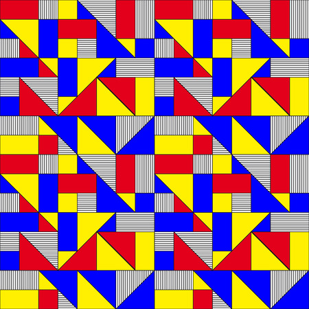 Geometric Squares and Triangles Pattern Vector