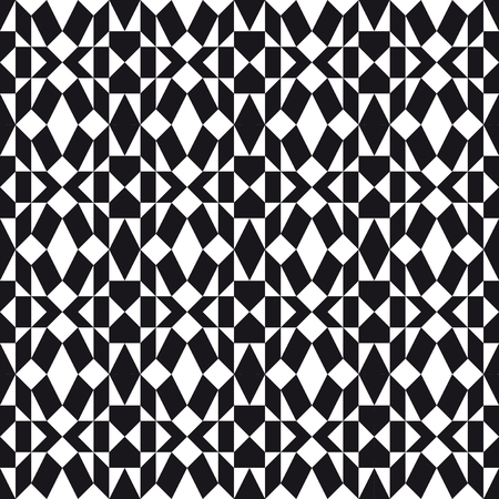 Monochrome Folk Pattern Vector