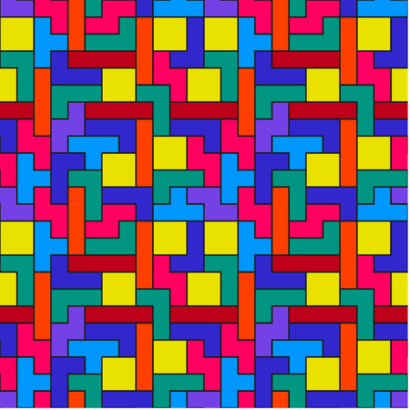 Colorful Tetris Pattern Vector