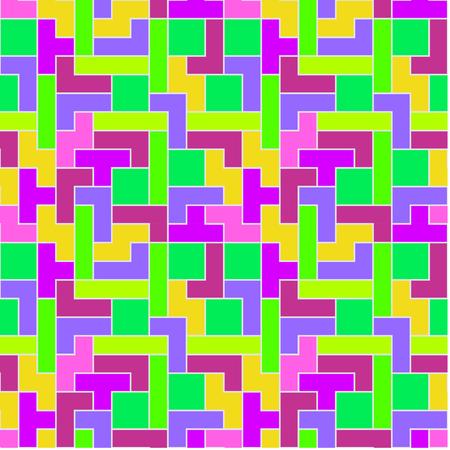 Pastel Tetris Pattern