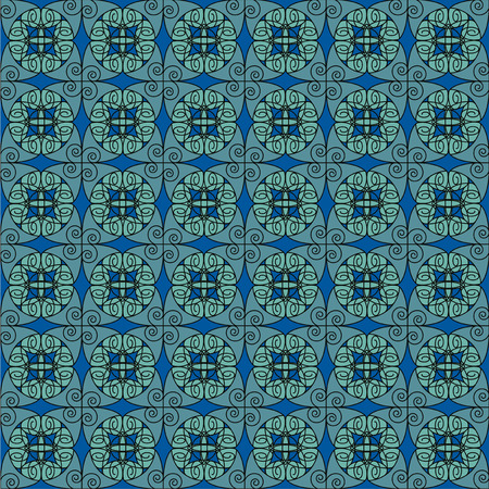Turquoise Antique Pattern Vector