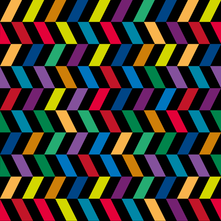 vivid colors: Colorful Geometric Pattern on Black Background