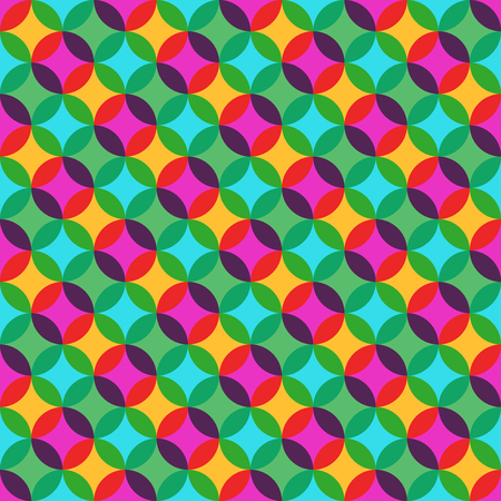 80's: Retro Colorful Transparency Pattern Illustration