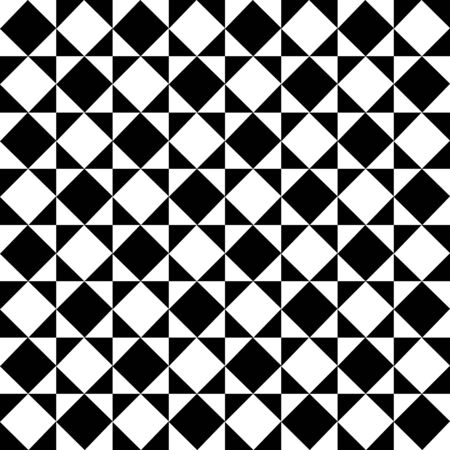 tile flooring: Monochrome Diagonal Checkered Pattern