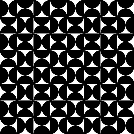 70s: Rounded geometry monochrome pattern Illustration