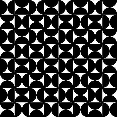 timeless: Rounded geometry monochrome pattern Illustration