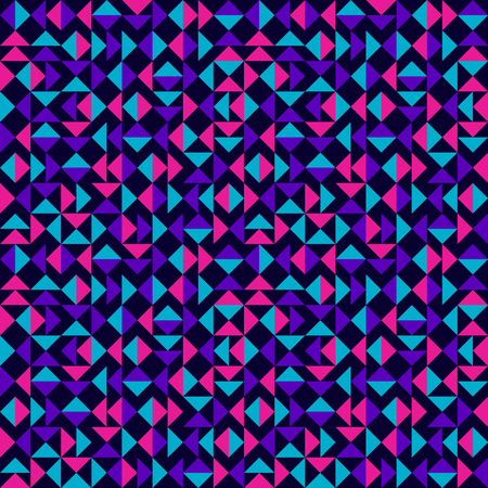nineties: Abstract Triangles Pattern