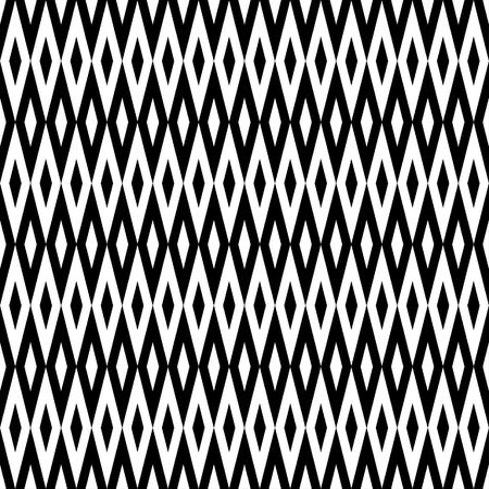 Monochrome Harlequin Pattern Illustration