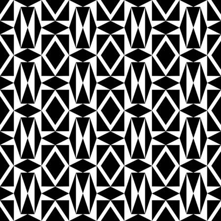 zeitlos: Zeitlose geometrische Schwarzweiss-Muster Illustration