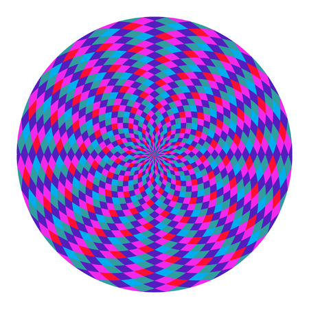 op art: Colorful Circular Fractal Design