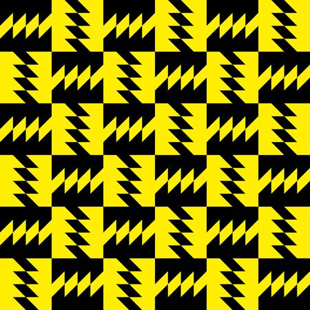 Checkered yellow zig zag pattern Vector