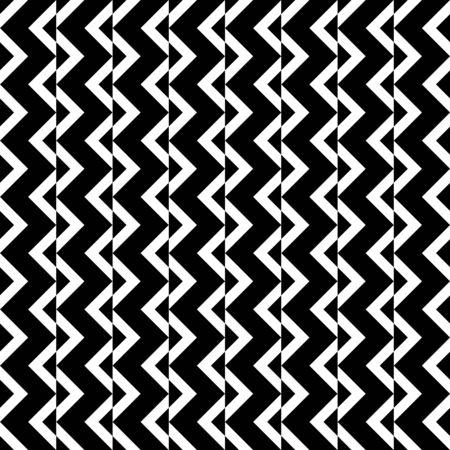 zeitlos: Schwarze und wei�e Zickzack-Muster