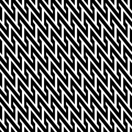 Black and white zig zag pattern Vector