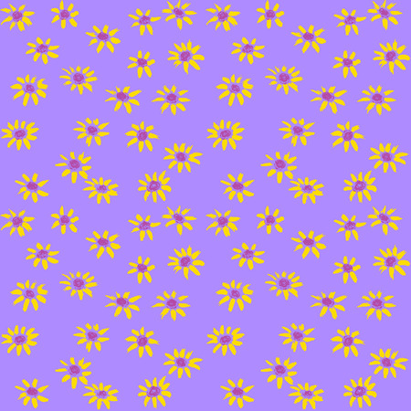 Hand painted pastel flowers pattern Vector