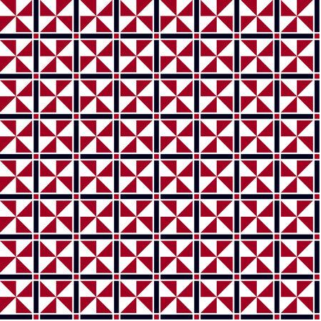 bauhaus: Red and black geometric pattern