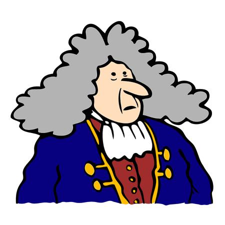 opulent: Baroque man illustration