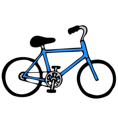 pedaling: Bicycle illustration Illustration