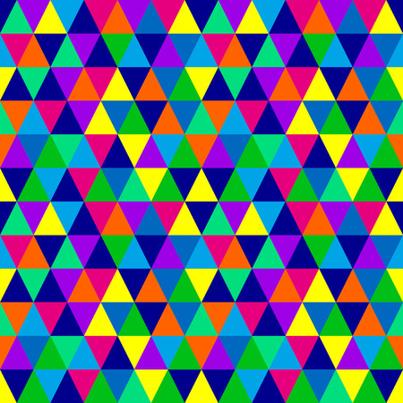 90s: Multicolored triangles pattern Illustration