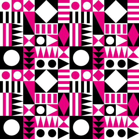mid century: Mid century modern abstract pattern  Illustration