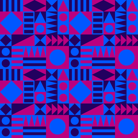 Blue and pink fifties pattern