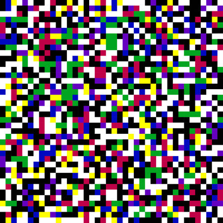 90s: Colorful pixel pattern