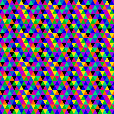 Multicolored triangles pattern Illustration