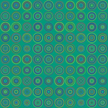 patron de circulos: retro verde de los c�rculos Vectores