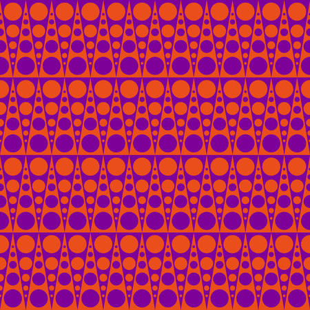 Orange psychedelic sixties pattern