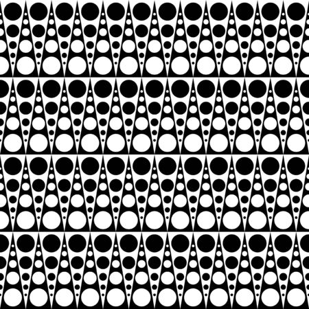 Monochrome psychedelic sixties pattern