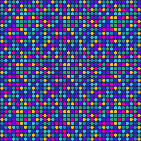 90s: Blue pixel dots pattern
