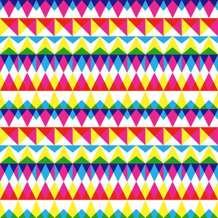 Colorful geometric stripes pattern Illustration