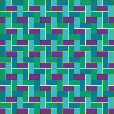 Green herringbone pattern