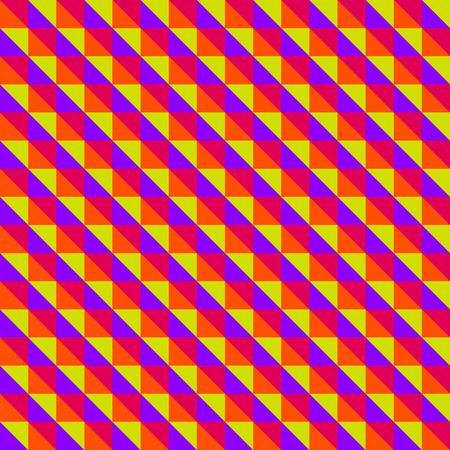 Multicolored diagonal triangles pattern
