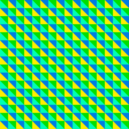 Green diagonal triangles pattern Illustration