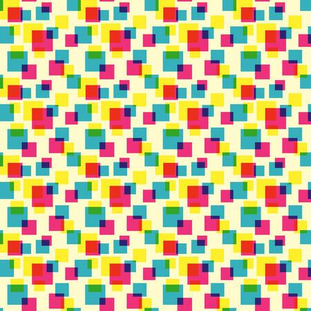 Colorful squares pattern Illustration