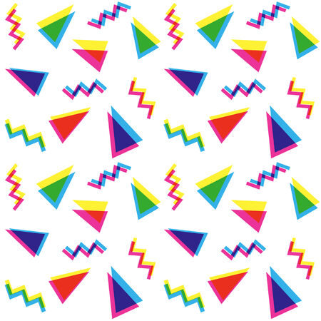 90s: Colorful triangles pattern