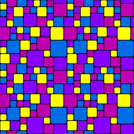 Pink and purple mosaic pattern