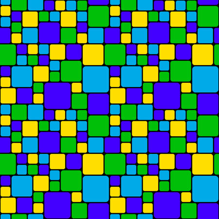 acid colors: Green and blue mosaic pattern Illustration
