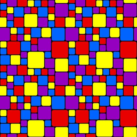 Multicolored mosaic pattern