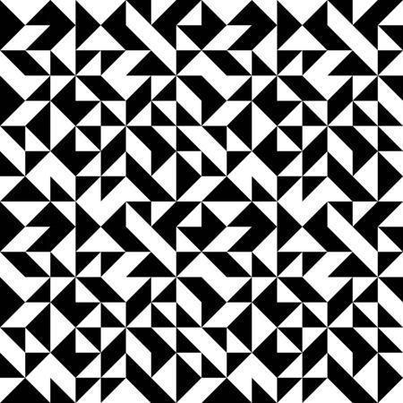 Abstract monochrome geometric pattern Illustration