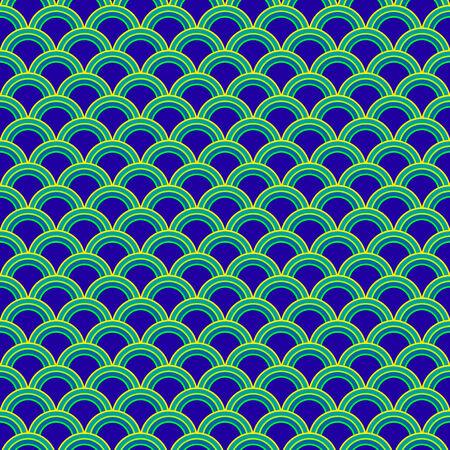 Colorful stylized shells pattern