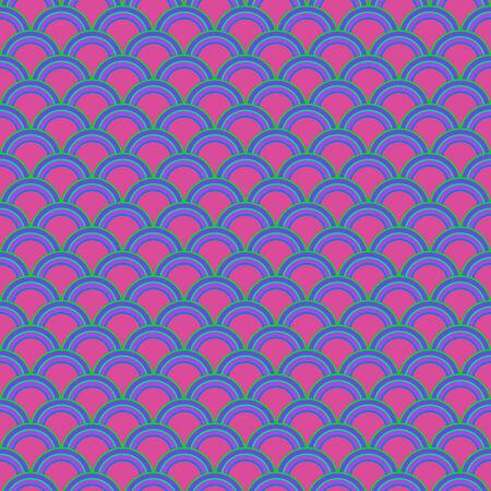 Purple stylized shells pattern