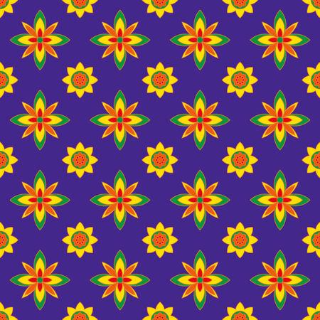 Multicolored ornamental pattern Illustration