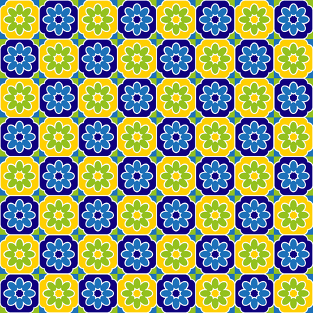 mod: Seventies tiles pattern Illustration