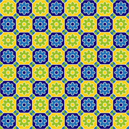 seventies: Seventies tiles pattern Illustration