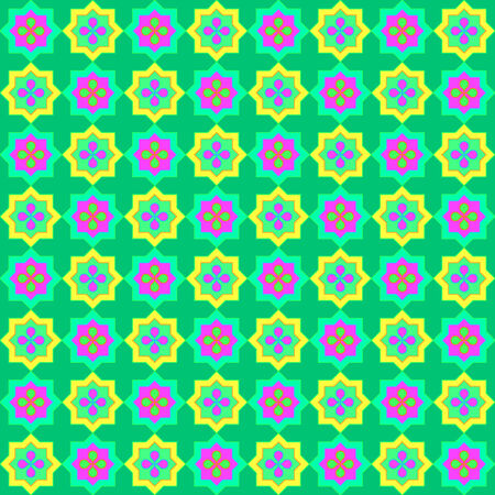 Colorful green mexican pattern