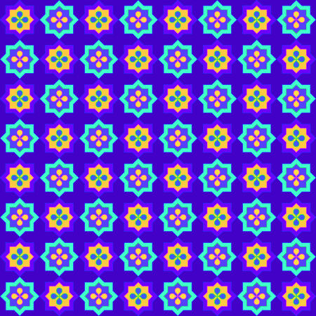 moresque: Colorful blue mexican pattern