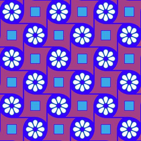 Purple geometric flowers pattern
